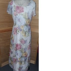Maxi Flower Dress Ladies 10 Stunning